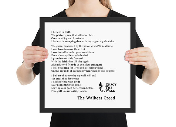 The Walkers Creed - Framed poster