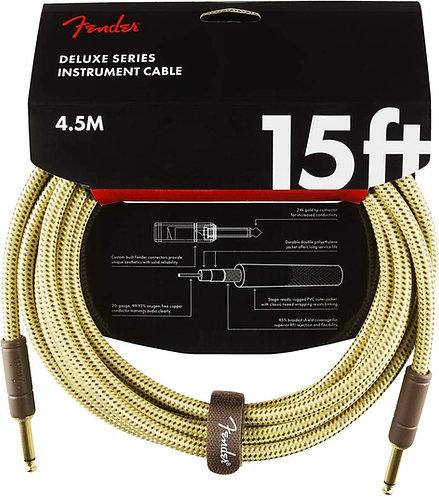 Fender Deluxe Instrument Cable - Tweed, 15 pies