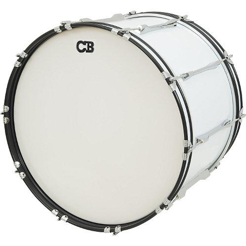 "CB PERCUSSION 3657 14"" x 24"" White Bass Drum"