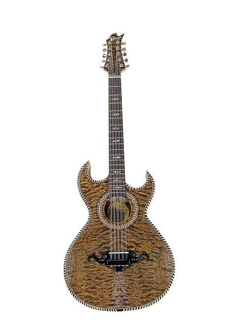 Pasaye Bajo Quinto Quilted Maple with SKB - 18 Hard Case Included
