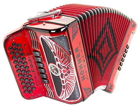 Hohner Anacleto Rey Aguila Two Tone 6 Switch Ruby Red