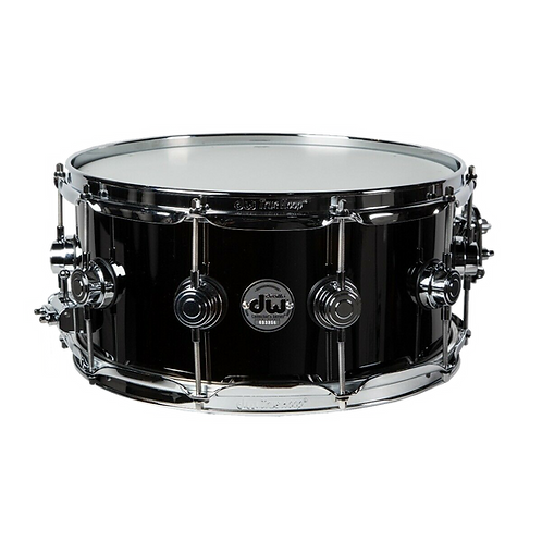 DW Collector's Series Black Nickel Over Brass Metal Snare Drum 6.5 x 14