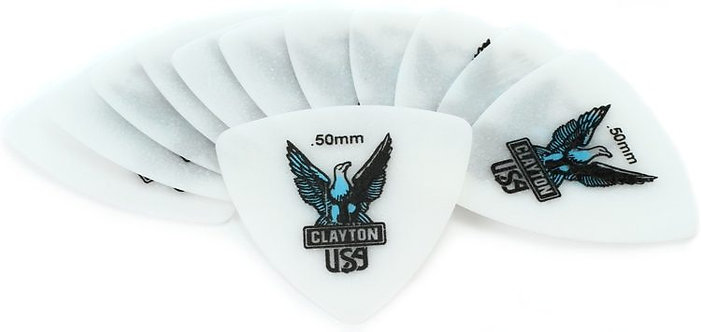 Clayton Acetal Rounded Triangle Picks