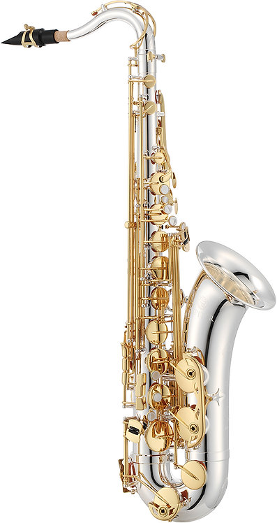 JTS1100SG JUPITER Tenor Saxophone Silver-Plated Body And Gold-Laquered Keys