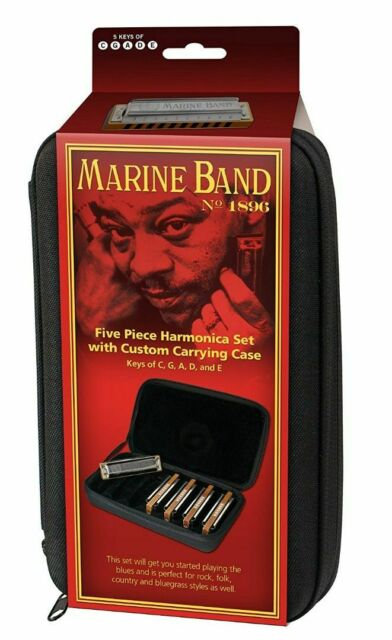 Hohner MBC Case of Marine Band Harmonicas in Zippered Carrying Case