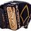 Thumbnail: Cantabella Rey II Accordion FBE/EAD 6 Switches Black with Gold Designs
