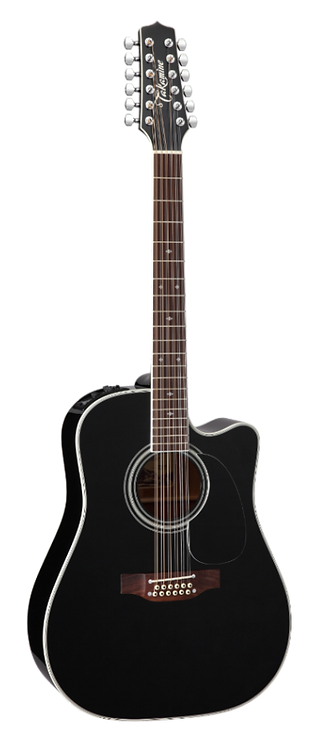EF381SC Takamine 12-String Dreadnought gloss black finish