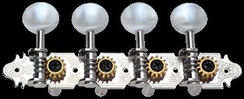 Golden Gate M-121 A-Model Mandolin Tuners - 2 planks (4+4) - Nickel
