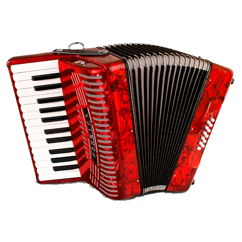 Hohner Hohnica 1303-RED Piano 12 Bass Accordion Pearl Red