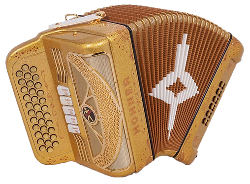 Hohner Anacleto Rey Del Norte III Compact Holographic Gold