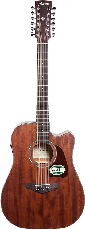 Ibanez AW5412CE-OPN 12-String Acoustic-Electric Guitar Satin Natural
