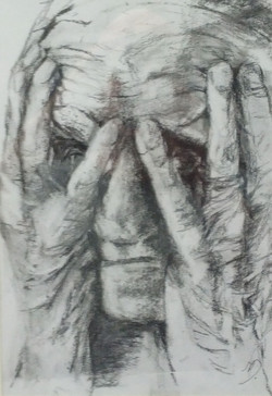 Head in hands