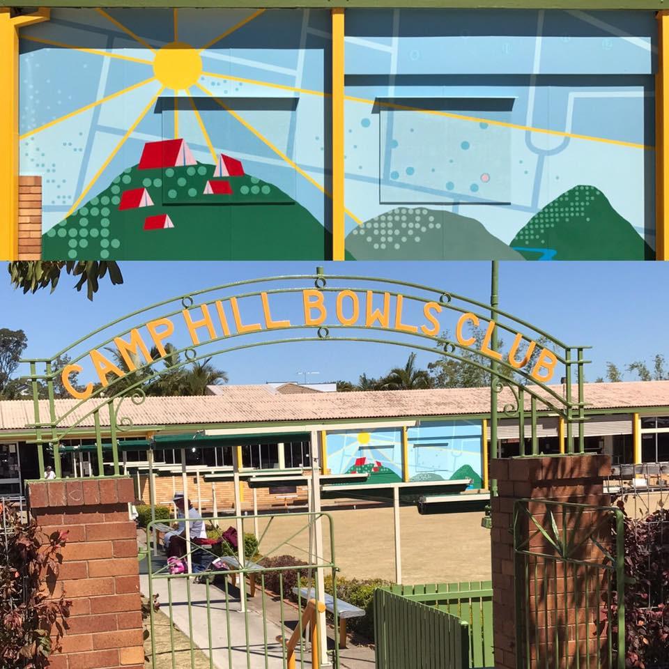 Camp Hill Bowls Club Mural