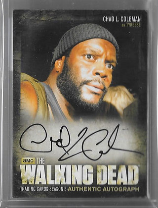 CHAD COLEMAN as Tyreese Walking Dead Autograph