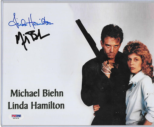 Michael Biehn/Linda Hamilton - Terminator 2 | PSA/DNA Authenticated