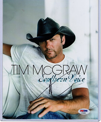 Tim McGraw 8x10 Photo - Country Artist | PSA Certified