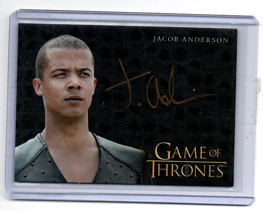 Game of Thrones - Jacob Anderson Steel Autograph