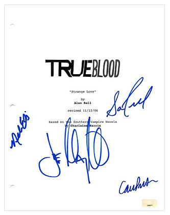 True Blood Script Cover Cast - Manganiello, Preston, Ellis, Trammell