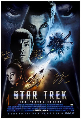 Zachary Quinto, Eric Bana, Simon Pegg Dbl Sided Poster  | Celebrity Authentics