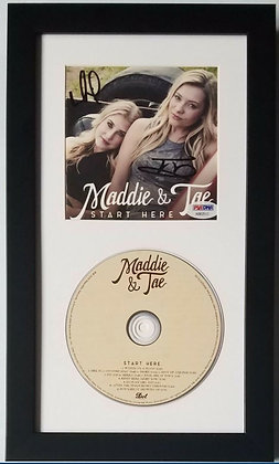 Maddie and Tae Autograph CD Framed Display - Country Artist | PSA Certified