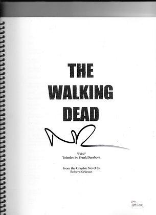 The Walking Dead Pilot Script Autographed by Norman Reedus
