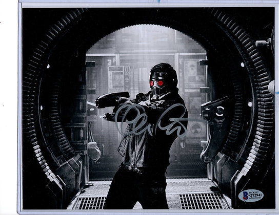 Chris Pratt - Starlord   Beckett Authenticated