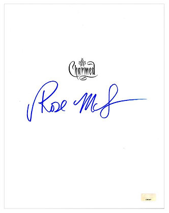 Rose Mcgowin -Charmed Script Cover | Celebrity Authentics Authenticated