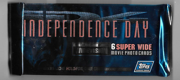 Independence Day 1996 Topps Wide Screen Movie Card Pack