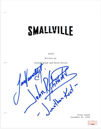 John Schneider and Laura Vabdervoort - Smallville  | Celebrity Authentics