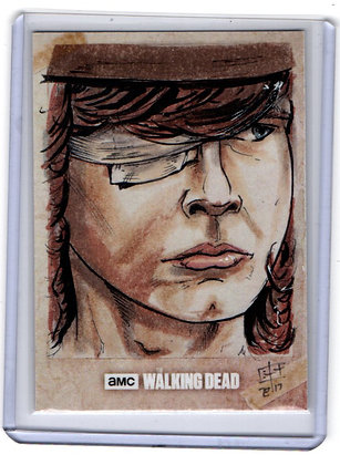 Walking Dead Carl Sketch Card