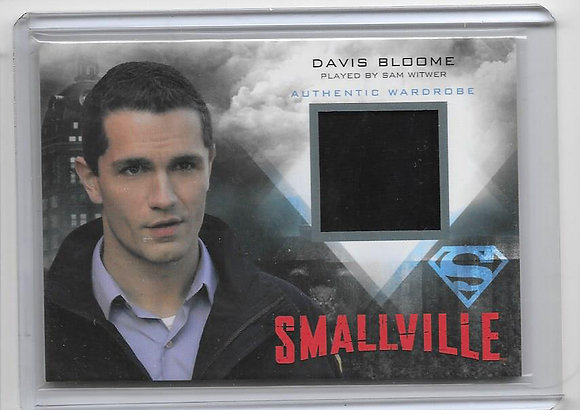 Davis Bloome Smallville Wardrobe Card