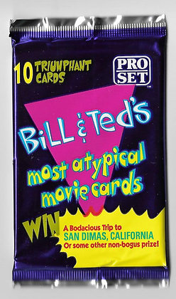 Bill and Ted's Most Atypical Movie Card Pack 1991 Topps