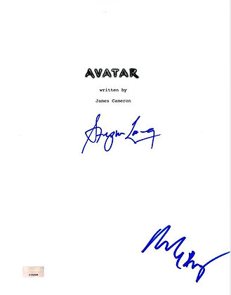 Stephen Lang and Michelle Rodriguez Avatar Script Cover | Celebrity Authentics