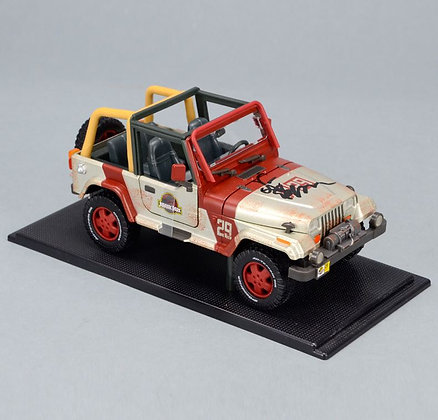 Jurassic Park/ World Jeep  1:18 Die Cast Car SIGNED BY JEFF GOLDBLUM
