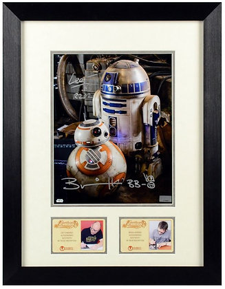 Brian Herring and Lee Towersey Star Wars Framed | Celebrity Autics