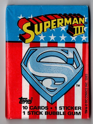 Superman III 1983 Topps Trading Card Pack