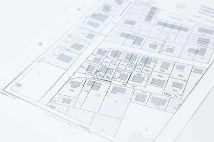 Unterlagen zum Grundstück in Düsseldorf, Flurplan, Lageplan, Katasterkarte