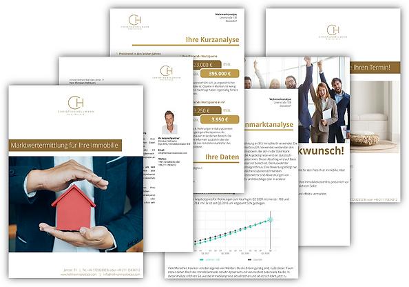 Übersicht über die Seiten der Online Immobilienbewertung der Christian Hellman Real Estate
