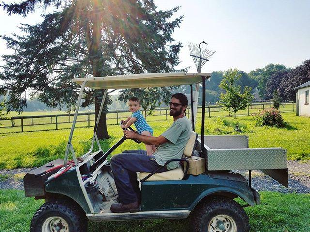 Livin the dream ☀ #farmbaby #thatmorning