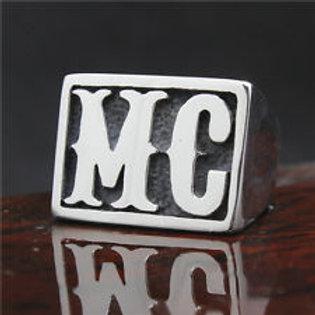 Bague MC argentée