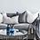 Thumbnail: Eadie Soft Steel Linen Cushion