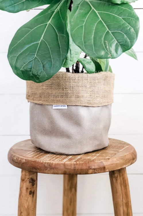Pumice Faux Pot Plant Cover