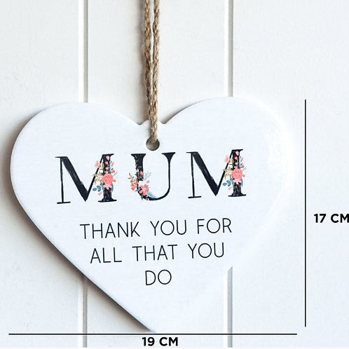 """""""Thank you Mum"""" hanging wall plaque"""