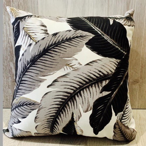 BLACK LEAVES CUSHION