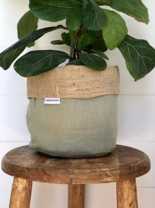Olive Pot Plant Cover