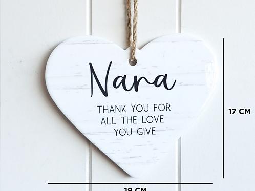 """Thank you Nana""hanging wall plaque"