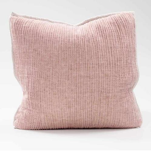 Eadie Sea Foam Linen Cushion - Rose Natural