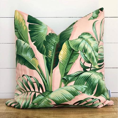 Blush Palms Outdoor Cushion