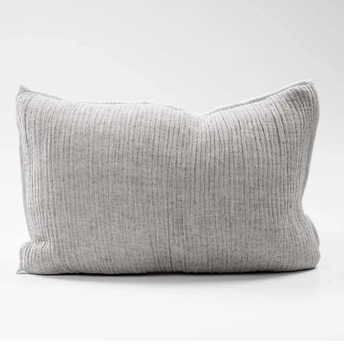 Eadie Sea Foam Linen Cushion - Slate Natural