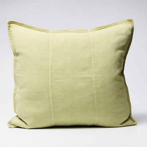 Eadie Luca Linen Cushion - Lime